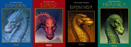 'Eragon', 'Elpest', 'Brisingr' e 'Herança' tornaram-se best-sellers