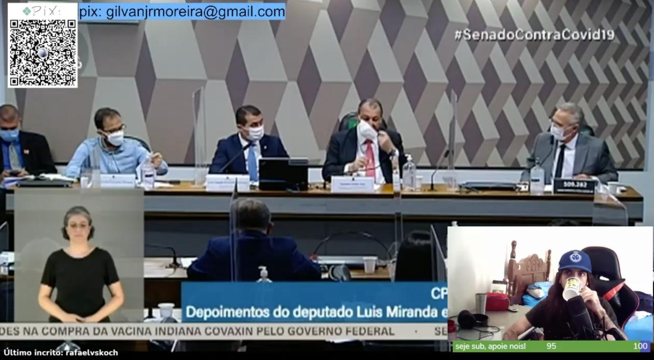Cena de uma live do canal O Sonoplasta na Twitch